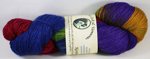 Arctic Qiviut Sock Yarn - Northern Lights