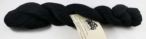 45/45/10 Qiviut/Merino/Silk, 2/14 Fingering, 220yds, 1oz, Black