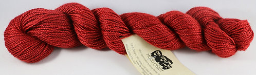 45/45/10 Qiviut/Merino/Silk, 2/14 Fingering, 220yds, 1oz, Red Robin