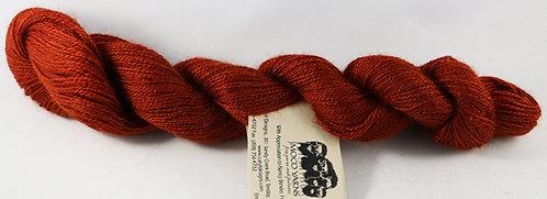 70/20/10 Qiviut/Merino/Silk, 2/18 Lace, 300yds, 1oz skein, Rust