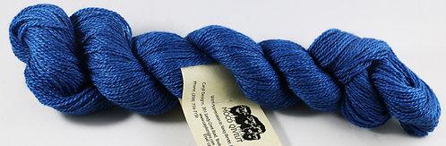 45/45/10 Qiviut/Merino/Silk, 2/14 Fingering, 220yds, 1oz, Sapphire