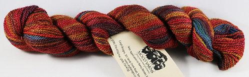 45/45/10 Qiviut/Merino/Silk, 2/14 Fingering, 220yds, 1oz,  Bitterroot Rainbow