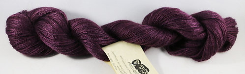 70/20/10 Qiviut/Merino/Silk, 2/18 Lace, 300yds, 1oz skein, Dark Plum