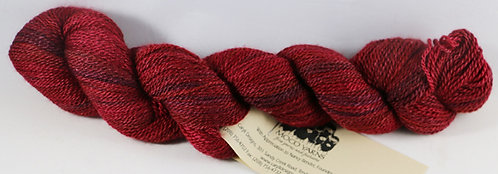 45/45/10 Qiviut/Merino/Silk, 2/14 Fingering, 220yds, 1oz, Ruby River