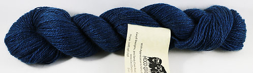 100% Qiviut, 2/14 Fingering weight, 220 yards, 1 oz, Sapphire