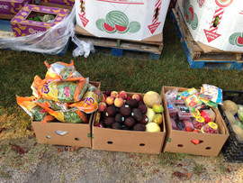 Produce for those in need handed out at the Community Food Pantry.
