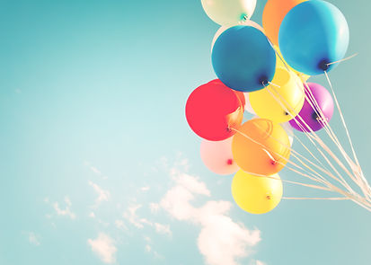 Colorful balloons done with a retro inst