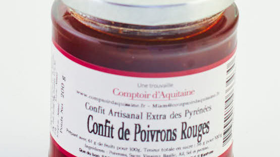 CONFIT DE POIVRONS POT 200 gr