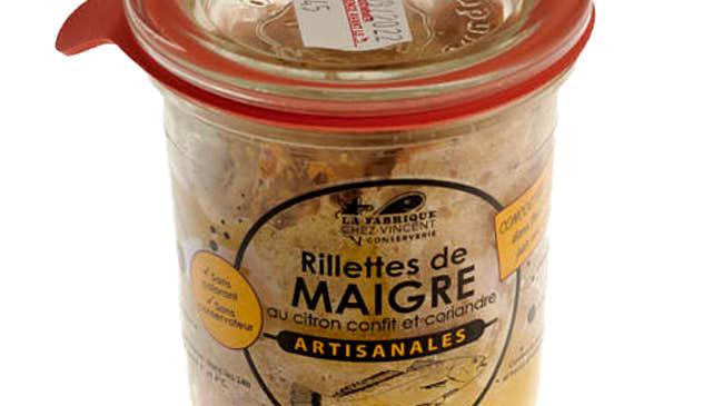 RILLETTES MAIGRE CITRON CONFIT POT 100 GR