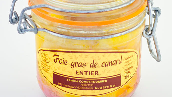 FOIE GRAS DE CANARD ENTIER BOCAL 200 gr