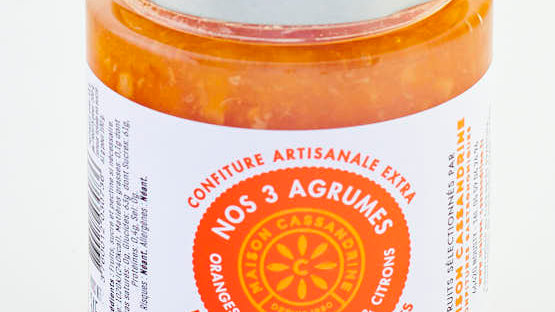 CONFITURE 3 AGRUMES POT 345 gr