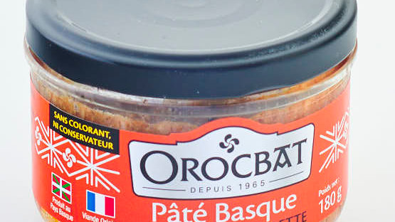 PATE BASQUE AU PIMENT D'ESPELETTE BOCAL 180 gr