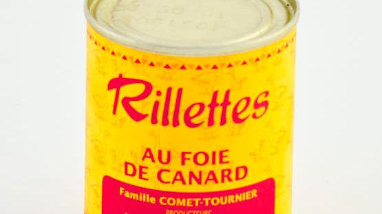 RILLETTES DE CANARD AU FOIE GRAS 50% BOITE 180 gr