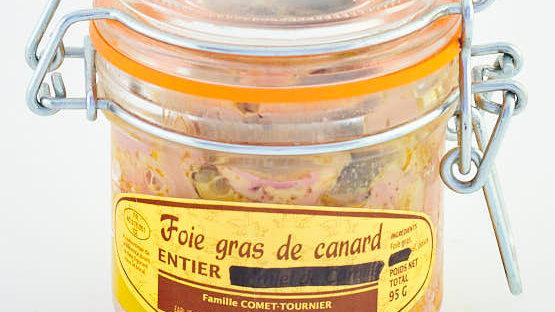FOIE GRAS DE CANARD CONSERVE BOCAL 95 gr