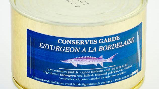 ESTURGEON À LA BORDELAISE BOÎTE 400 gr