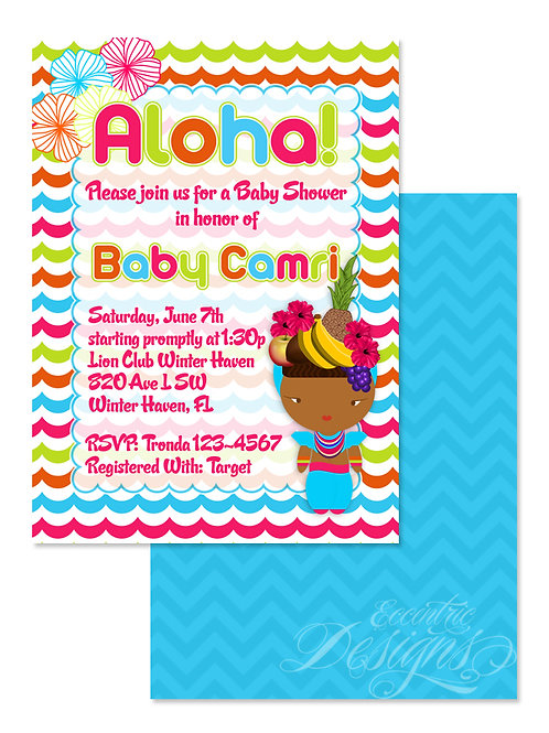 Tropical Luau - Digital Babyshower Invitation