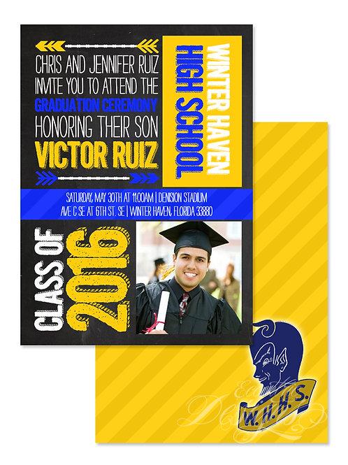 Typography - Digital Graduation Invitation