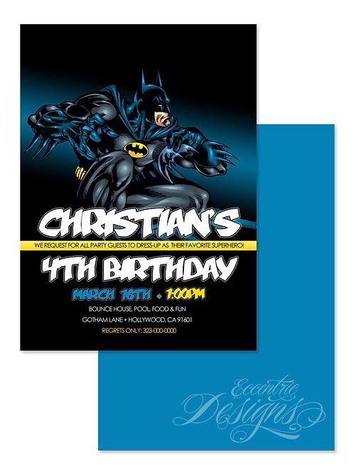 Batman / Supehero - Digital Birthday Invitation