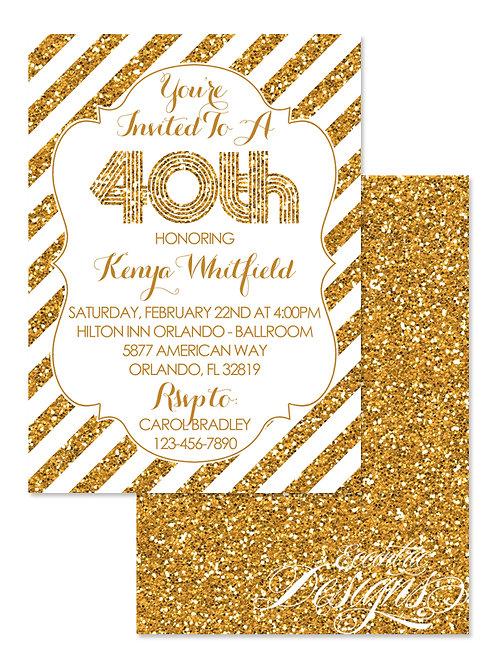 Milestone - Birthday Invitation