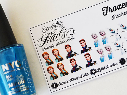 Frozen (Princess Anna/Queen Elsa) - Nail Decals