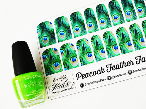 Peacock Feathers - Nail Decals