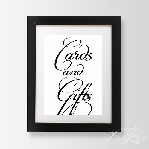 5X7 - Cards and Gifts Wedding Sign