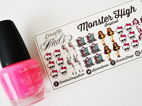 Monster High - Nail Decals