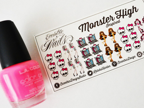 Monster High Nail Decals