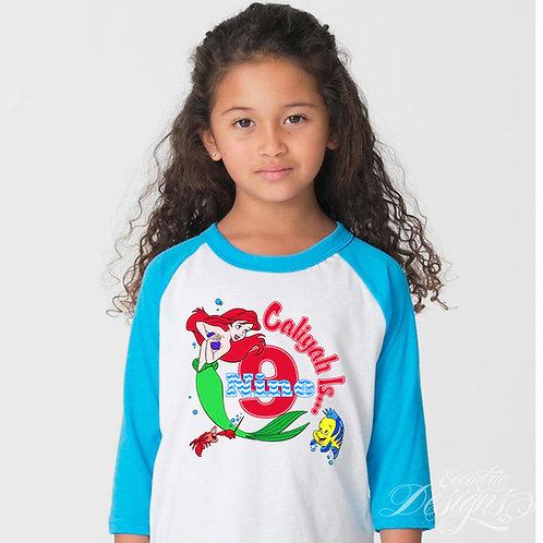 The Little Mermaid - Iron-on Tshirt Transfer