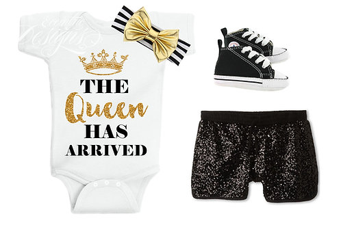 The Queen - Baby Iron-on Tshirt Transfer