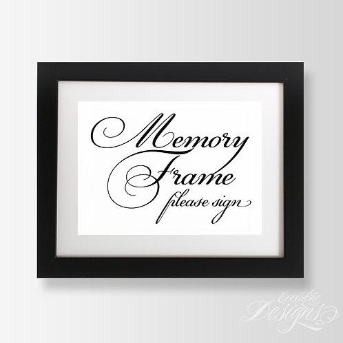 5X7 - Memory Frame Wedding Sign