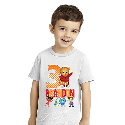 Daniel The Tiger - Iron-on Tshirt Transfer