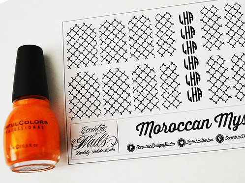 Moroccan Monogram - Nail Decals