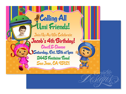 Team Umizoomi - Digital Birthday Invitation