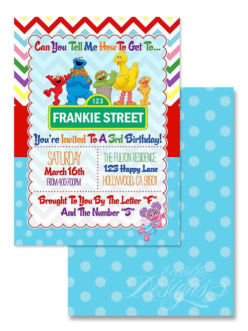 Sesame Street - Digital Birthday Invitation