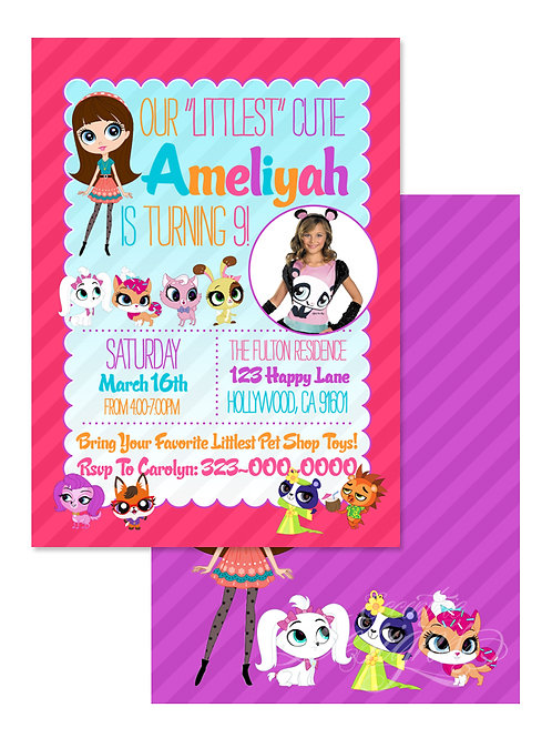 The Littlest Pet Shop Digital Birthday Invitation