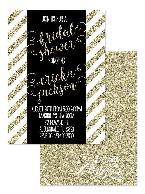 Gold Glitter - Bridal Shower Invitation