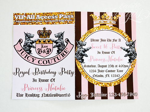 Juicy Couture - VIP Birthday Party Invitation