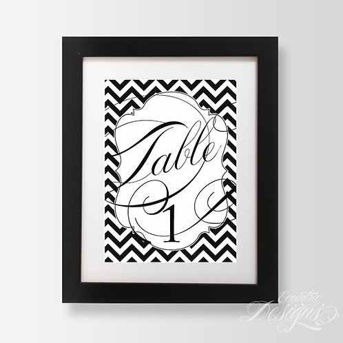 5X7 - Chevron Table Numbers