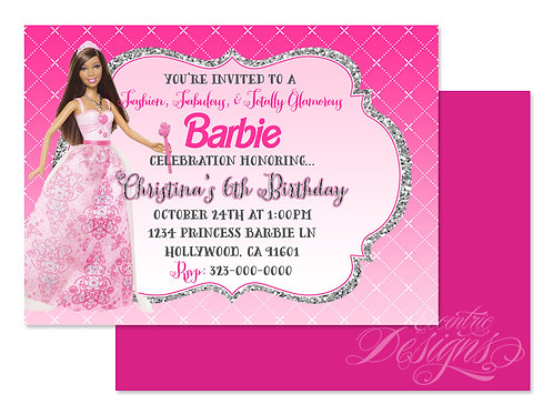 Barbie Princess - Digital Birthday Invitation