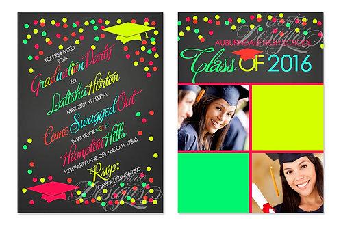 Neon - Digital Graduation Invitation