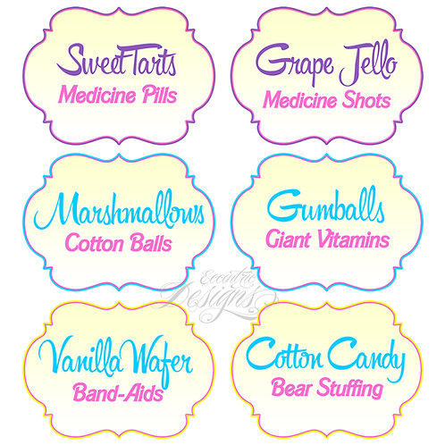 Dessert Table/Candy Buffet Labels (Doc McStuffins)