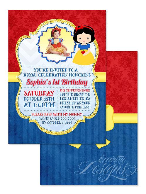 Snow White - Digital Birthday Invitation