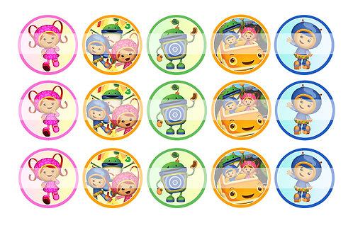 Team Umizoomi - Bottle Cap Designs