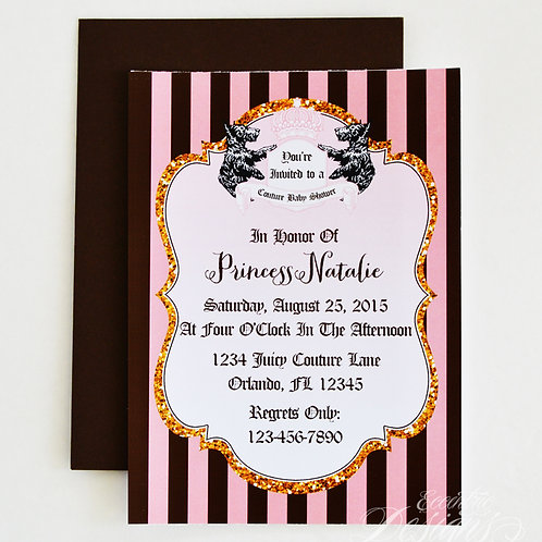 Juicy Couture - Birthday Party Invitation