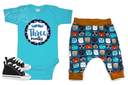 Little Man - Newborn Milestone Onesie Stickers