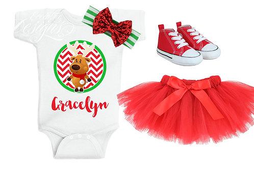 Santa's Reindeer - Baby Iron-on Tshirt Transfer