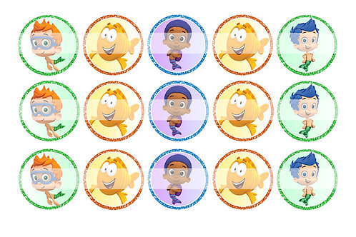 Bubble Guppies (Boys) - Bottle Cap Designs