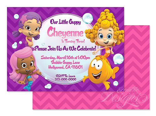 Bubble Guppies - Digital Birthday Invitation