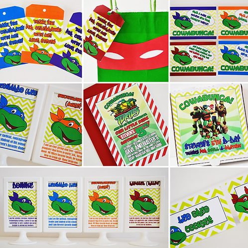 TMNT Digital Party In A Box